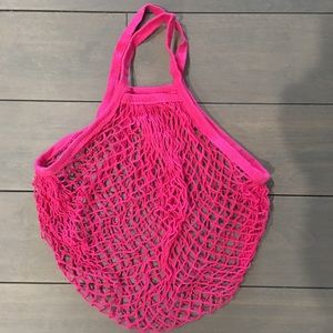 Handbags - Hot Pink eco friendly Net Bag